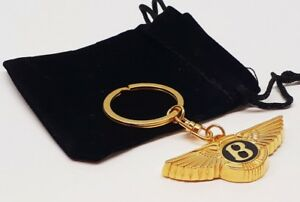 BENTLEY 24ct GOLD PLATED KEYRING MULSANNE CONTINENTAL GT GTC TURBO R ARNAGE 24K