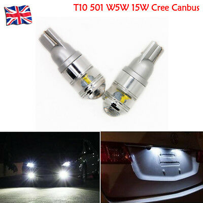 2x 501 Projector Led 57 Smd Canbus Super Bright White Reflection T10 W5w Bulbs
