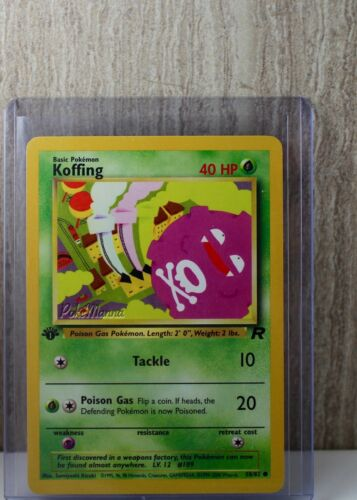 1st Ed Koffing Non-Holo Pokemon Card 58//82 Rocket Set Top Loaded PLY-NM