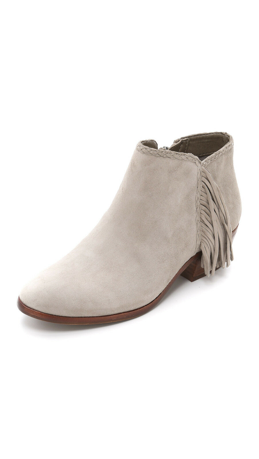 Sam Edelman 'Paige' Fringed Ankle Booties in PUTTY (10.5) +