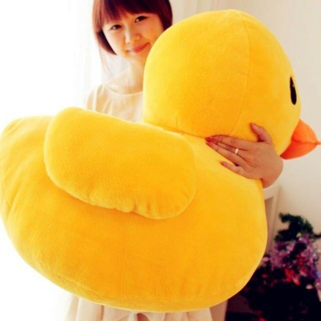 "30cm(12"") Giant Yellow Duck Stuffed Animal Plush Soft Toys Cute Doll Pillow"