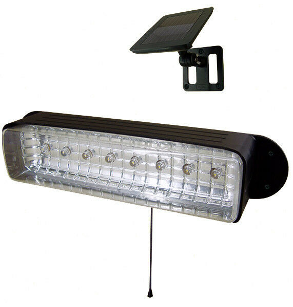 3 x Solar Powerot Shed Eaves 8 LEDs Path Garage Barn Patio Porch Wall Light Lamp