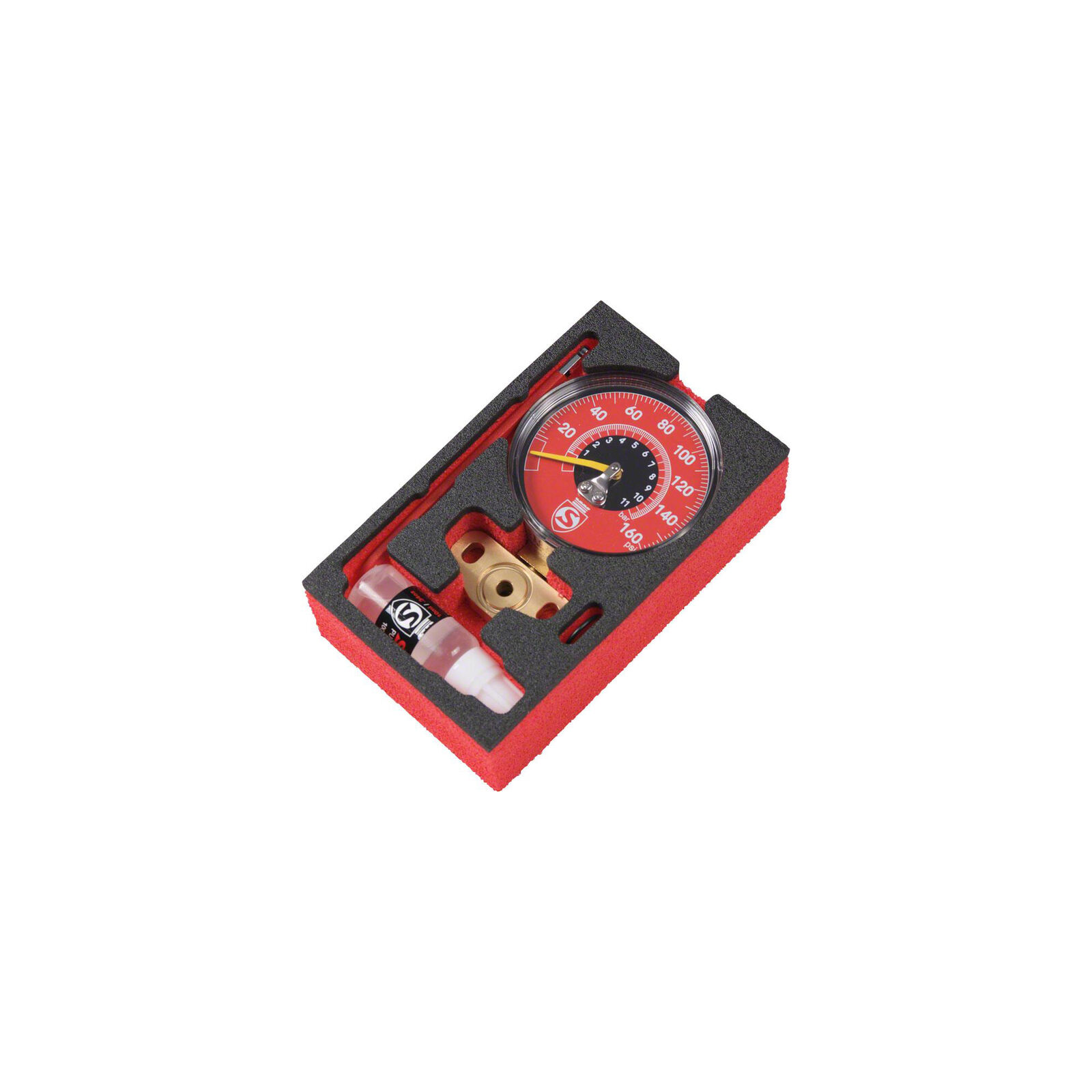 Silca Super Pista Ultimate 160psi High Pressure Gauge, rosso
