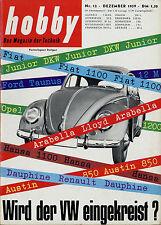 hobby 12/59 1959 Opel Kapitän Chevrolet Corvair Andrea Doria Kreidler Florett VW