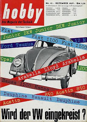 Auto & Motorrad: Teile Hobby 1959 12/59 Opel Kapitän Chevrolet Corvair Andrea Doria Kreidler Florett Vw Geschickte Herstellung