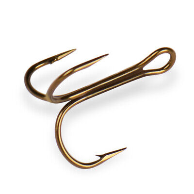 bronze  treble hooks size 6 Danco 572GR 144 count stock no