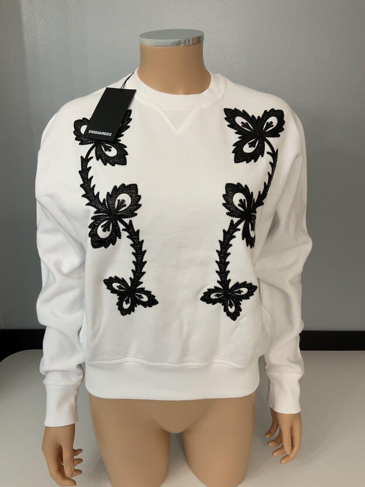 Dsquarojo 2 Nuevo blancoo Suéter Tamaño  M Mediano BNWTs blancoo y Negro  ventas directas de fábrica