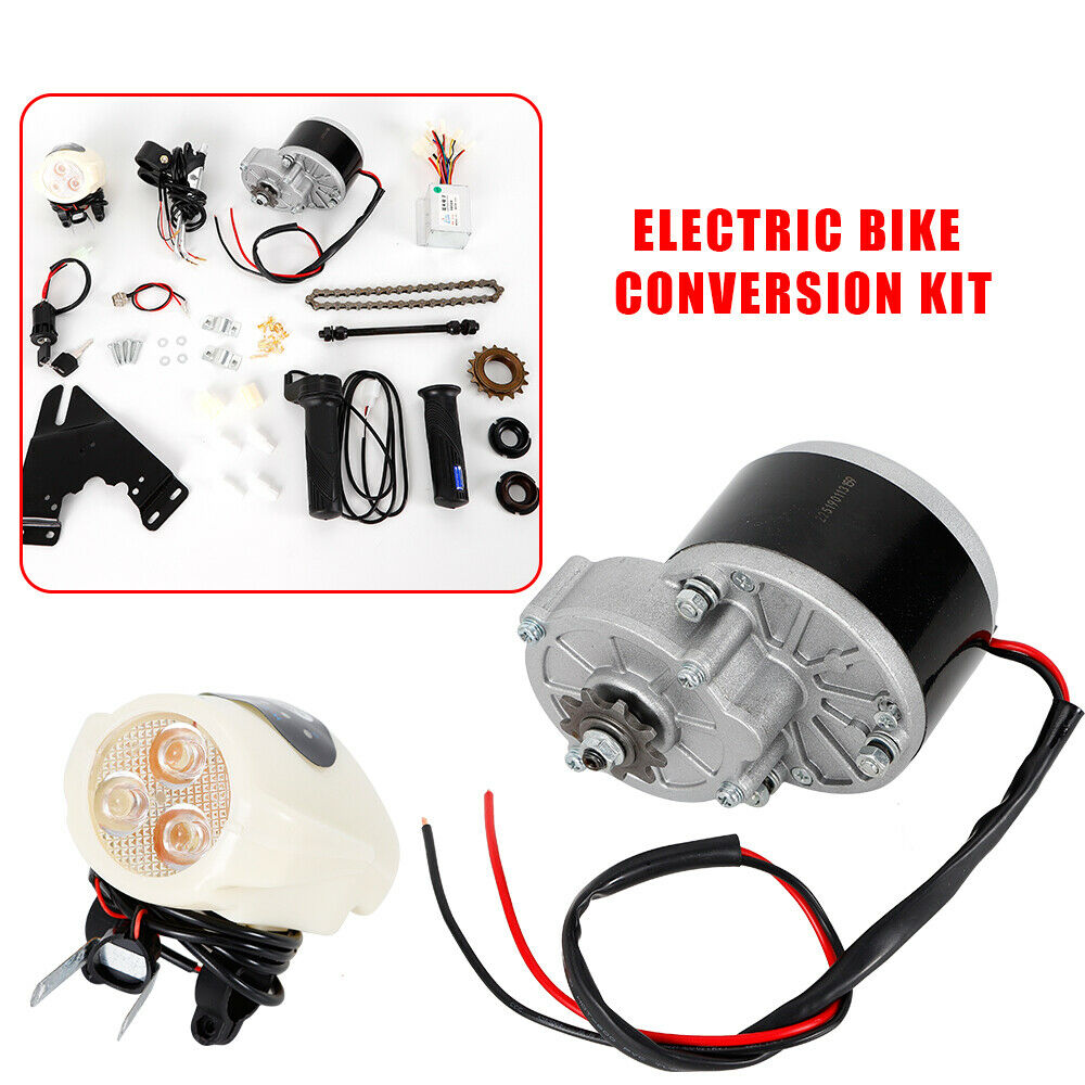 24V 36V 250W Electric Bicycle Conversion Kit E-Bike Motor Controller Kit USA