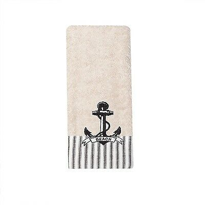 (2) India Ink Beach Cottage Nautical Fingertip Towel Anchor Land & Sea New