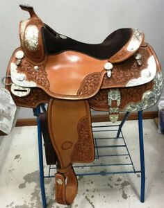 "Details about Billy Cook 16"" Show Saddle Beautiful LOTS of Silver Model  #8958 ~ NEW"