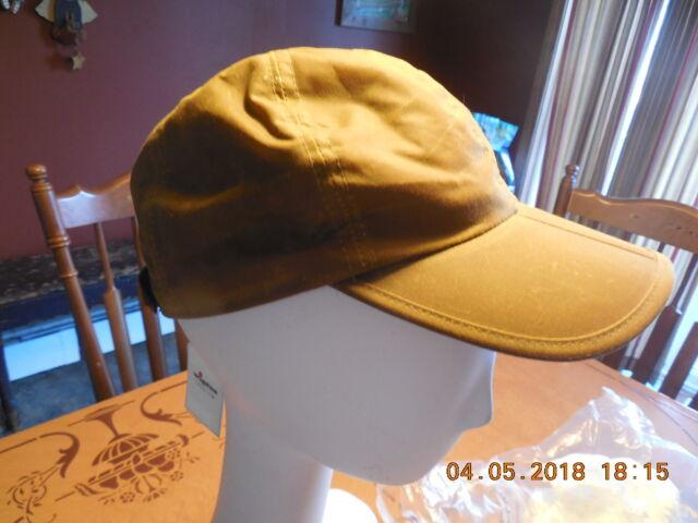 Buy Men s Wigens Waxed Cotton Baseball Cap With Folding Brim Large ... db1fd37f1a7