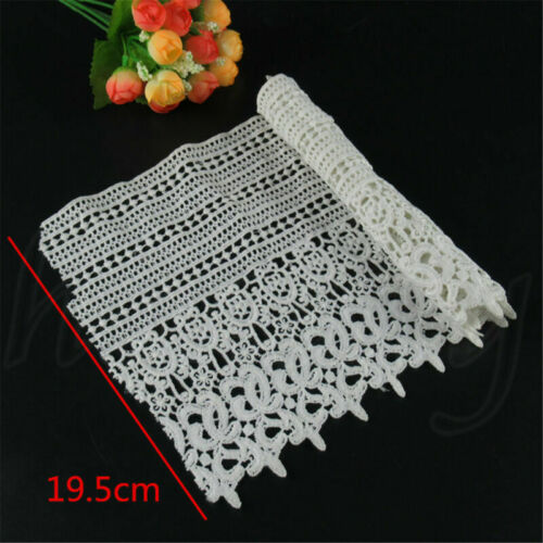 1 Yd Embroidered Lace Edge Trim Ribbon Wedding Applique DIY Sewing Craft Fabric