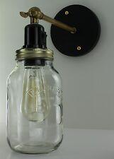 Edison Wall Light Vintage Industrial Lamp Filament Cafe Jam Jar Lights Free Bulb