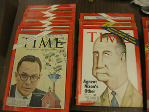 Lot-of-24-TIME-MAGAZINE-Jan-8-1965-Oct-11-1976-See-Photos-Good-Condition