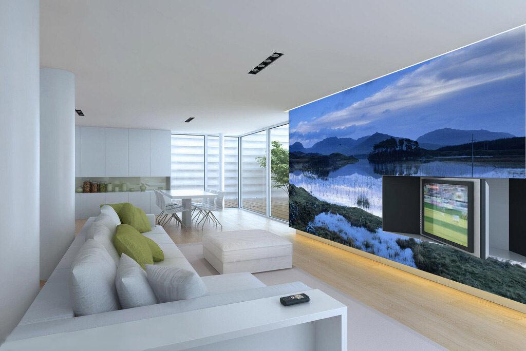 3D Blau, landschaft, Wald 675 Fototapeten Wandbild Fototapete BildTapete Familie