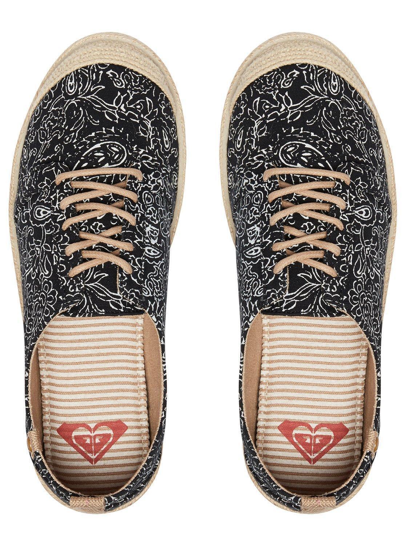 ROXY Damenschuhe PUMPS.FLORA BLACK  LACE 8S UPS CANVAS Schuhe.ESPADRILLE SOLE 8S LACE 417 BLK a7ebc4