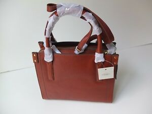 Fossil Claire Satchel Brandy Bag New With Tag Brand tdshrQ
