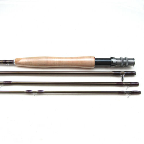 Carbon Fly Fishing Rod 4 Sections Length 9FT 5//6 Light Feel Medium-Fast Action