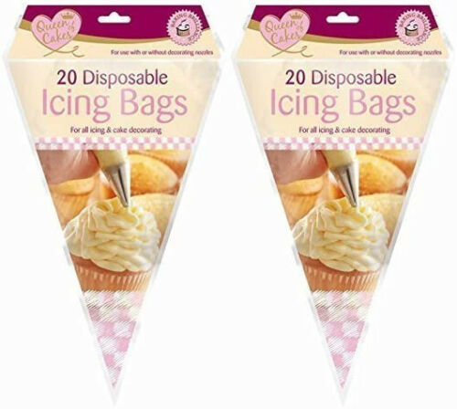 Queen Of Cakes 40 Disposable Icing /& Decorating piping Bags