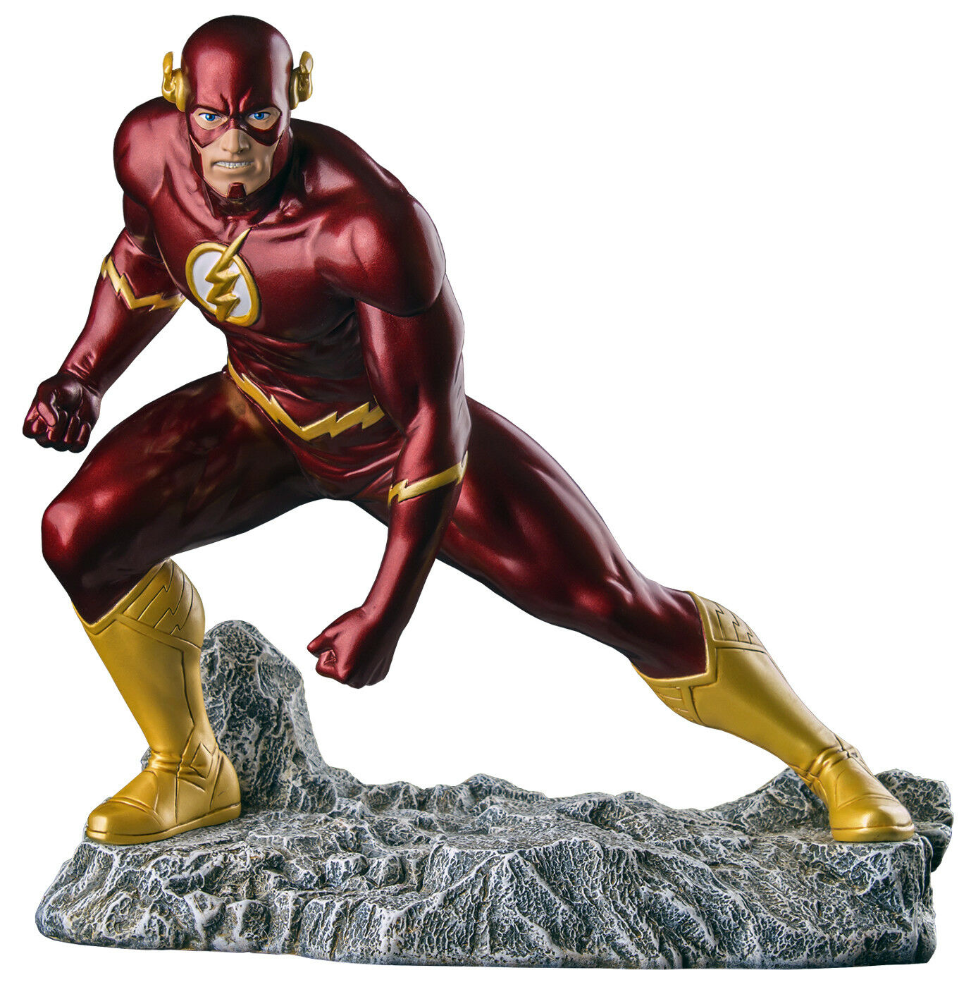 THE FLASH  New 52 - The Flash 1 6th Scale Metallic Statue (Ikon Collectables)