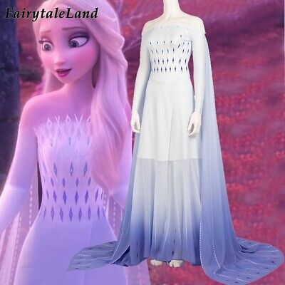 Frozen 2 Elsa Cosplay Outfit Nightgown Childhood Night-robe Princess Costume