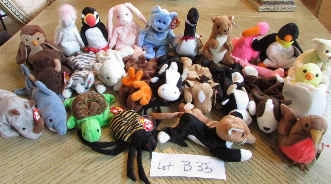 LOT OF OF OF 25  HARD TO FIND TY BEANIE BABIES  - EXC - LOT B35 df4982