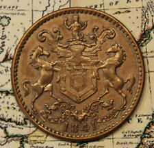 1841 NEWFOUNDLAND ST. JOHN'S RUTHERFORD TOKEN - HIGH GRADE DETAIL & CONDITION