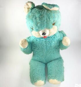 1950s-Large-Rubber-Nose-Teddy-Bear-27-x-14