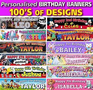 Personalised Children Kids Birthday Professional Vinyl