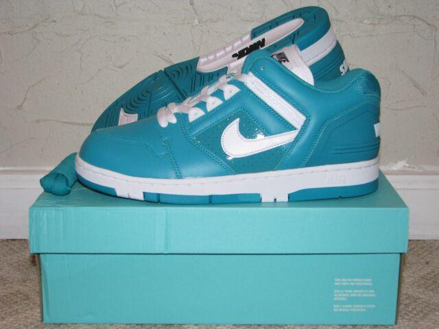 best website db9fb c8f43 Supreme x Nike SB AF2 Low Teal White Mens Size 10 DS NEW! AA0871