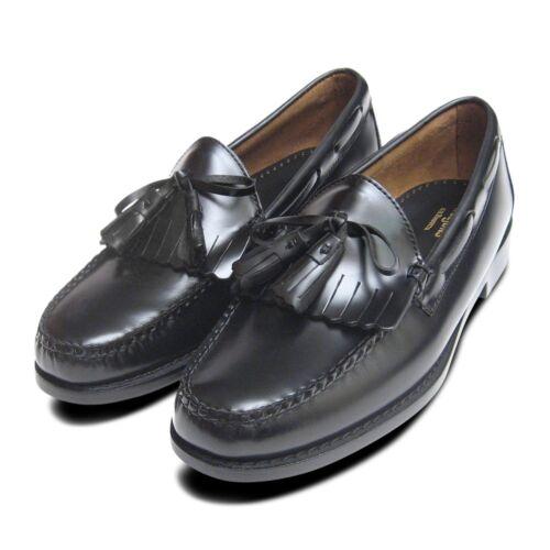 Weejuns Bass Fringe Formal Loafers Polished Black By Tassel Mens amp; 8q7zSnawt