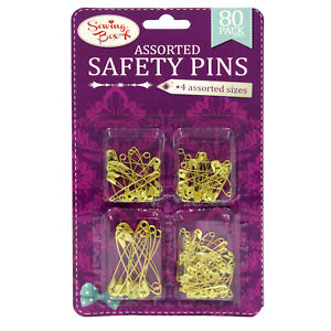 Sewing Box Gold Safety Pins