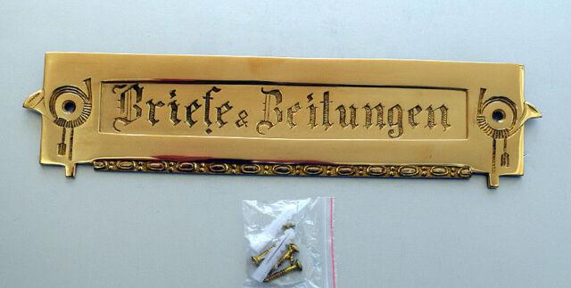 Brief Zeitung Post Schlitz Brief Einwurf Klappe Antik Style Messing LP9P