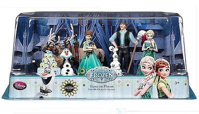 Disney Authentic Frozen Elsa Anna Olaf Sven Hans Cake Topper 6 Figure Play Set