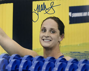 LEAH-SMITH-HAND-SIGNED-8x10-PHOTO-SWIMMING-2016-OLYMPICS-AUTHENTIC-RARE-AUTO