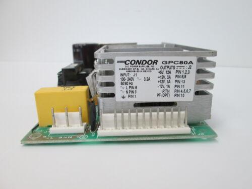 80WATT 63HZ 5//12//-12//12VDC GPC80A CONDOR POWER: AC//DC SWITCHING POWER SUPPLY