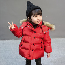 43d334902450 Baby Girls Red Smart Winter Swing Coat Jacket 3 to 6 Month Hooded ...