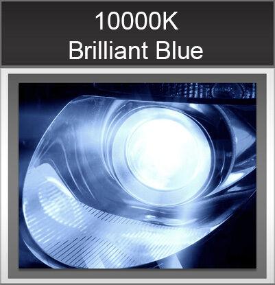 Autovizion 35Watt Super Compact H7 10000K Brilliant Blue HID Xenon Kit Low Beam