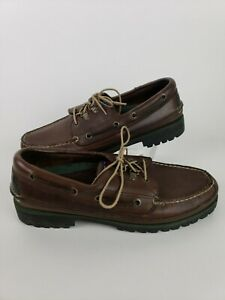 1b69380a6 Tommy Hilfiger Men s Bowman Boat shoe Brown Tan Leather Boat Deck ...