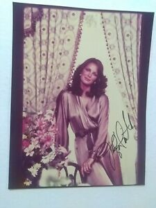 Jaclyn-Smith-Signed-Vintage-8x10-Photo-Rare-Shot-Robe-Bra-less-Charlie-039-s-Angels