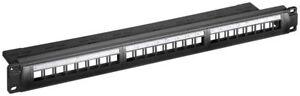 UNLOADED/LOADED BLANK Shielded Keystone Patch Panel 24 Port 1U Cat6a Cat6 Cat5e