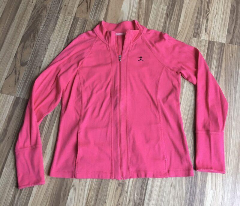 Radient Danskin Active Wear Jacket Full Zip Pink Semi Fitted Athletic Sports Ladies M More Discounts Surprises