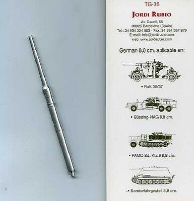 Affidabile Jordi Rubio Tg-35 - German Tank-gun 8,8 Cm Flak 36/37 Vendita Calda Di Prodotti