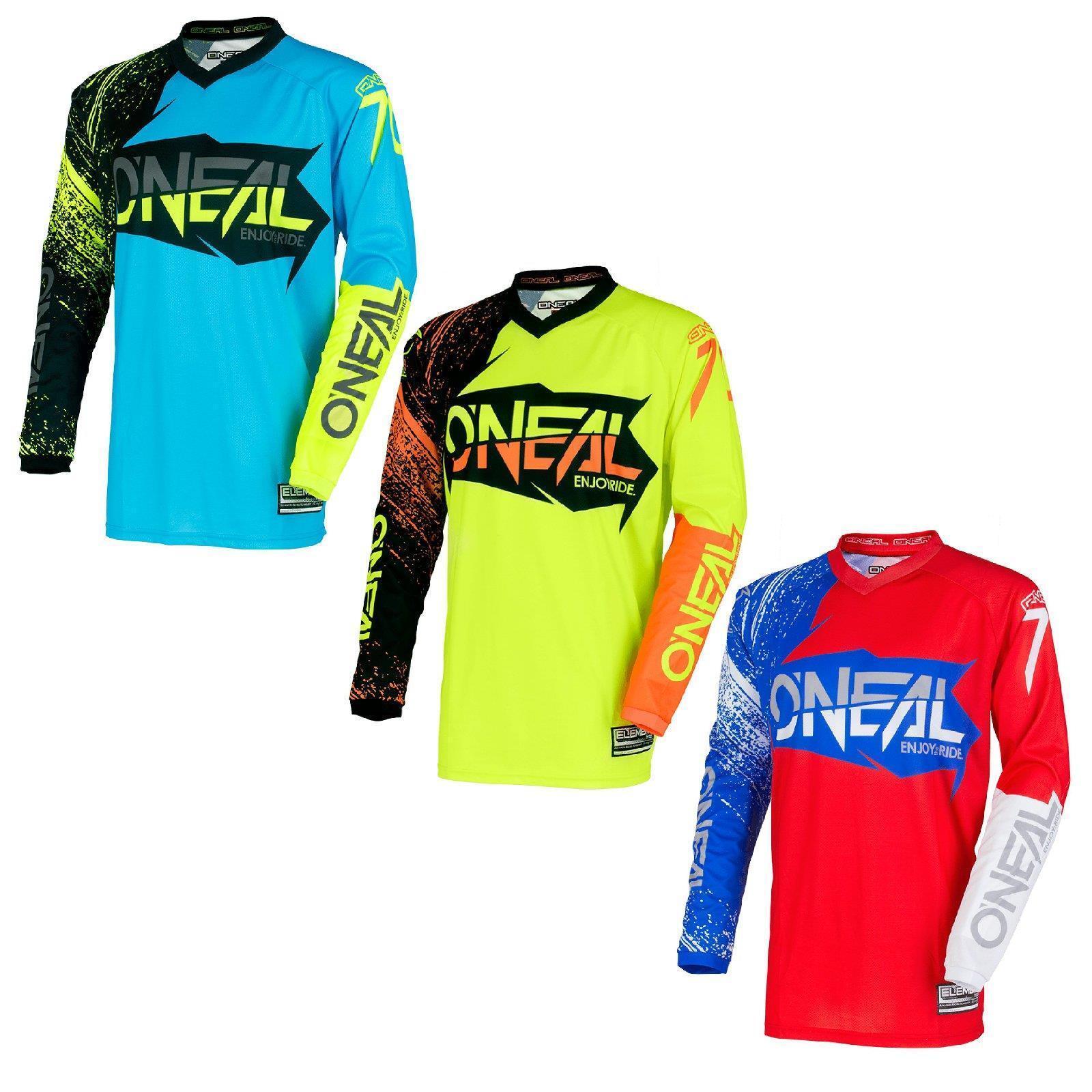 ONeal Element Burnout Moto Cross Jersey Shirt Enduro Downhill lMountainbike MTB