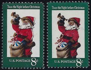 "1472 Multiple Color Shift Error / EFO ""Santa"" Mint NH"