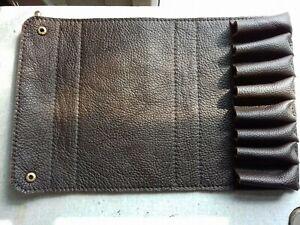 Fusil Extended Starter//alésage de 20 cartridge Case en Cuir Marron Argile Tirer détient 8.