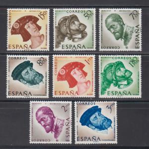 SPAIN-1958-MNH-COMPLETE-SET-SC-SCOTT-879-86-KING-CHARLES-V