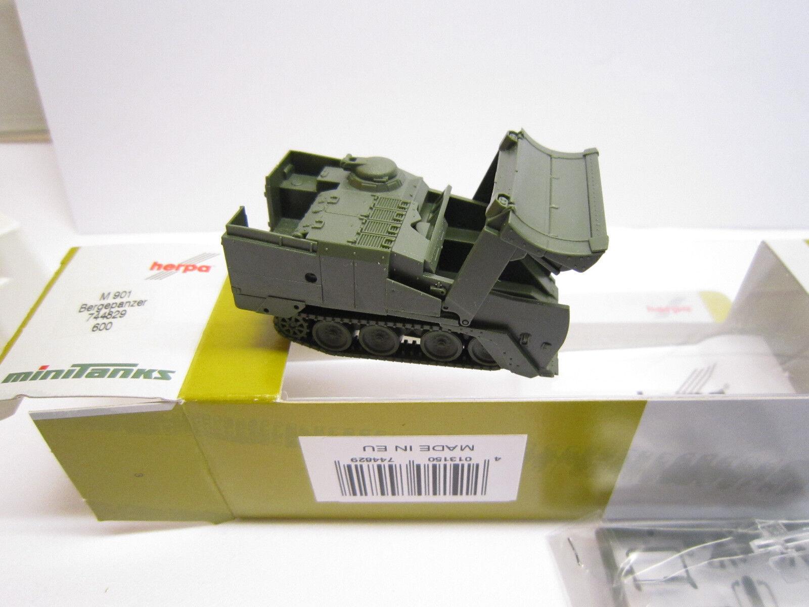 NEU /& OVP Roco 600 Herpa Minitanks 744829 Panzer Bergepanzer M901 US Army