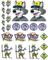 Cub Scouts Wolf Iron On T Shirt Pillowcase Fabric Transfer Set 10 - Blue & Gold