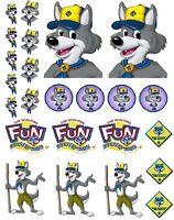 Cub Scouts Wolf Iron On T Shirt Pillowcase Fabric Transfer Set 10 - Blue & Gold
